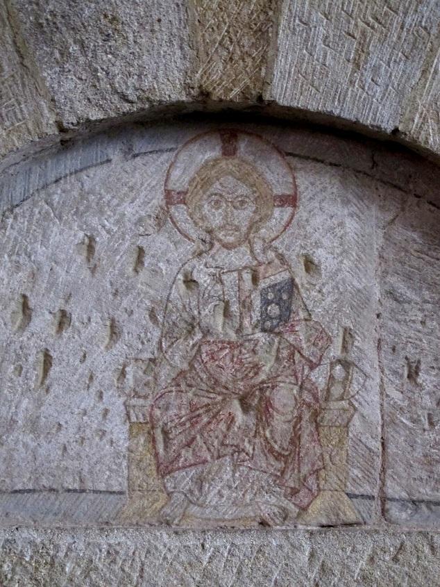 Bad Sobernheim, Matthiaskirche, thronender Christus (wohl frühes 13. Jahrhundert) (Bild: Karin Berkemann)