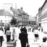 Suhl, Steinweg, Fußgängerzone, 1977 (Bild: Bundesarchiv Bild 183-S0722-0026, CC BY SA 3.0.de, Foto: Helmut Schaar)