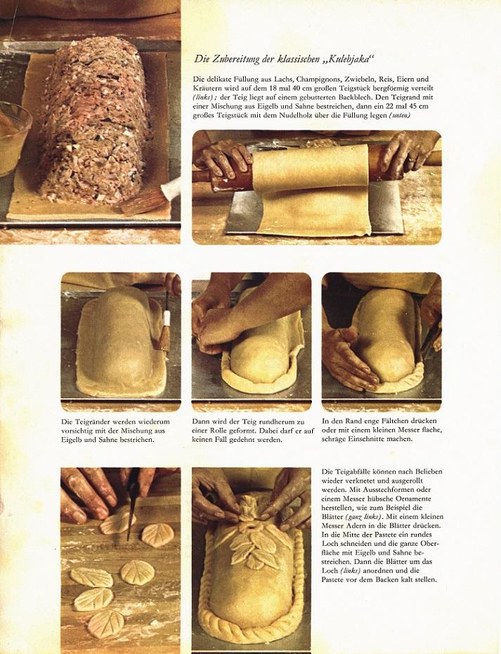 Der Bauplan zum Rezept für die russische Pastete (Bild: Time Life)