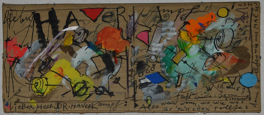Tinguely-Brief an H.-E. Haverkampf (Bild: H.-E. Haverkampf)