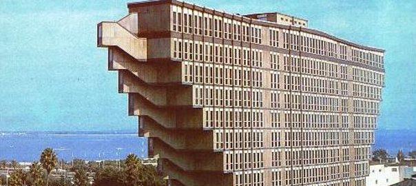 Tunis, Hôtel du Lac (Bild: historische Postkarte)
