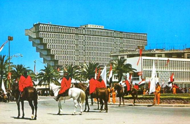 Tunis, Hôtel du Lac (Bild: historische Postkarte, Editions Reguioui, Chamam)