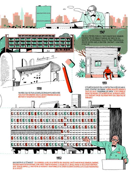 Vincent Mahé illustriert das Leben des Architekten Le Corbusier (Bild: V. Mahé)