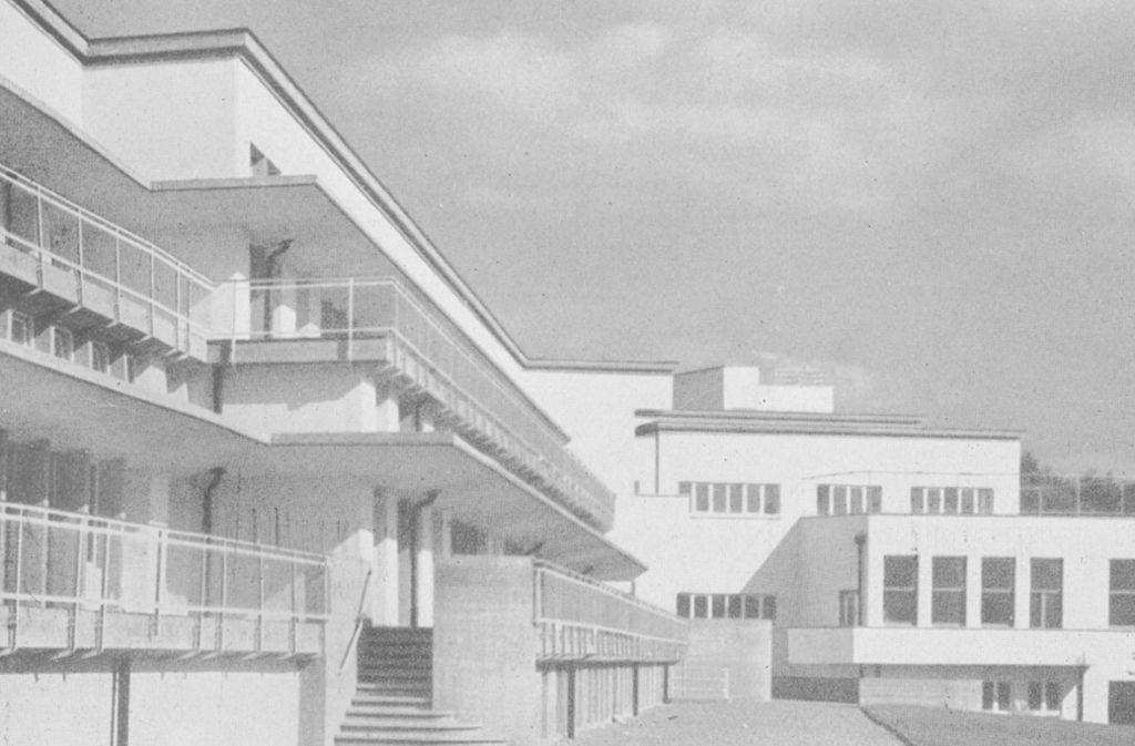 Waiblingen, Kreiskrankenhaus ca. 1930 (Bild: Freunde der Weißenhofsiedlung)