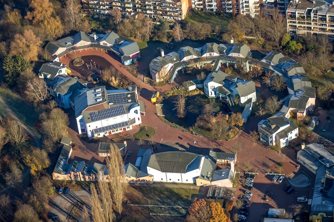 Düsseldorf, Rudolf-Steiner-Schule, 1981/82 (Erik Asmussen), Lageplan (Bild: N. N.)
