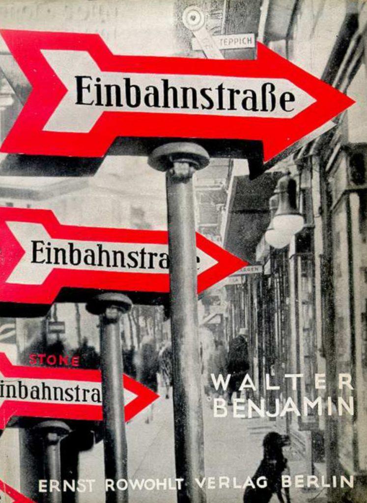Sasha Stone, Schutzumschlag für Walter Benjamins Einbahnstraße, Ernst-Rowohlt-Verlag, Berlin 1928 (Bild: PD)