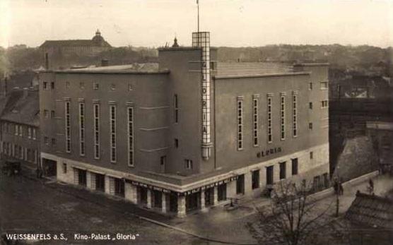 Das Gloria in Weißenfels zur Zeit seiner Eröffnung (Bild: historische Postkarte)