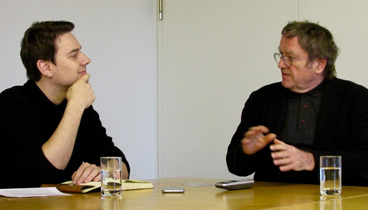 Werner Durth im Gespräch mit Julius Reinsberg (Bild: Carla Reitter)