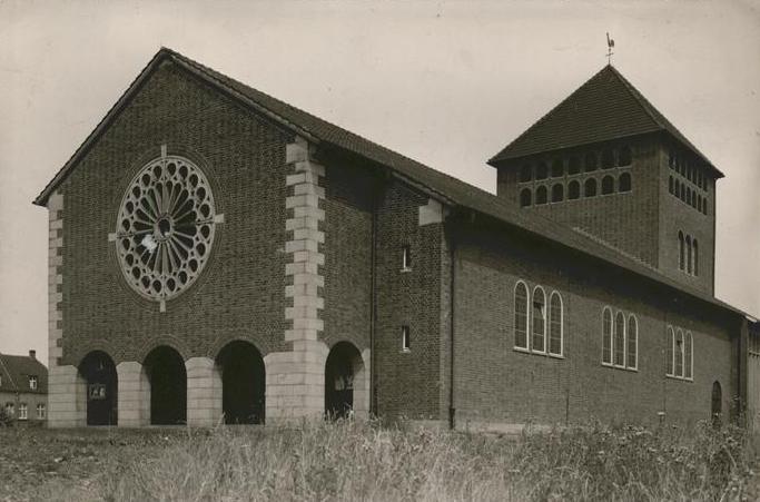 Werne, St. Konrad (Bild: historische Postkarte, Cramers Kunstanstalt, Dortmund)