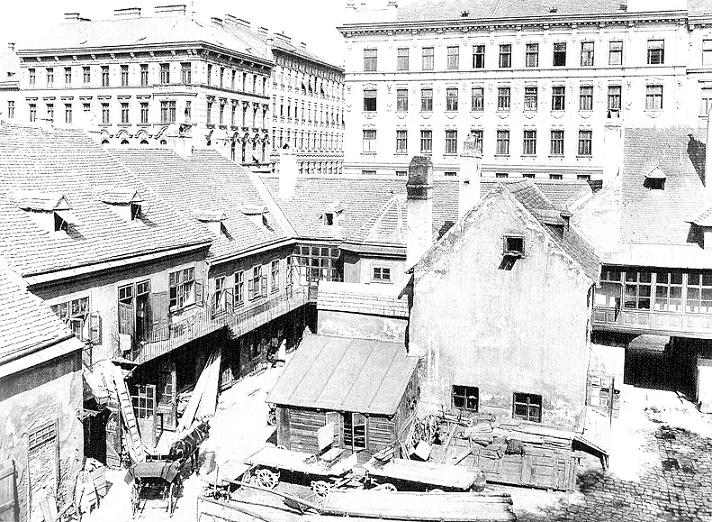 Wien-Alsergrund, um1900 (Bild: August Stauda)