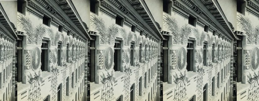 Wien, Miethaus Köstlergasse 1 (Linke Wienzeile 38), Ansicht vom Gerüst des Hauses Linke Wienzeile 40, 1899, Silbergelatinepapier, 23,9 × 18,2 cm (Bild: © Privatbesitz; Courtesy Photoinstitut Bonartes, Wien; Bild gereiht)