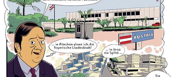 Wien, Karl Schwanzer Comic (Bild: Birkhäuser)