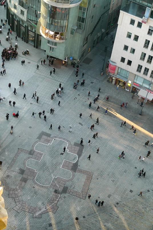 Wien, Stephansplatz, Umrisse der Virgilkapelle (Bild: Thomas Ledl, CC BY SA 3.0.at)