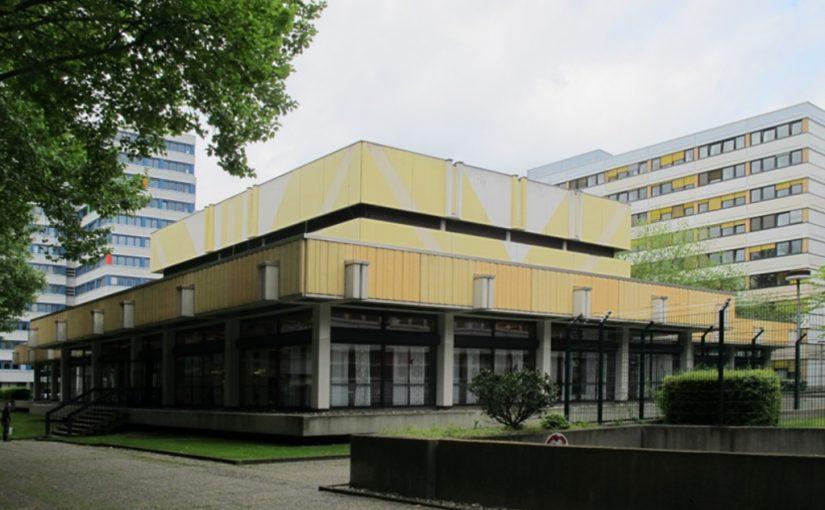 Wiesbaden, Kantinenbau (1977) im Behördenzentrum Schiersteiner Berg (Bild: Karin Berkemann)