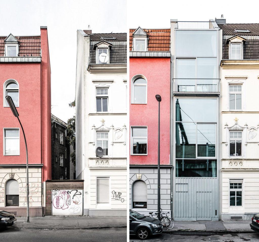 Köln, Lückenbebauung in der Hüttenstraße (Wolfgang Zeh, 2017) (Bilder: Büro Wolfgang Zeh)