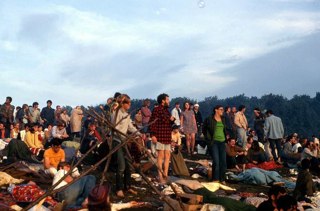 Woodstock, 1969 (Bild: James M Shelley, CC BY SA 4.0)