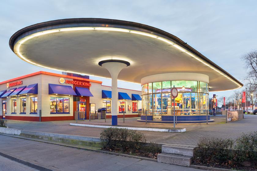 Bochum, ehemalige Tankstelle, jetzt Burger-King-Filiale (Bild: © Joachim Gies, 2014)