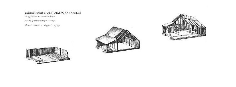 Bauschema der Bartning-Notkirche Typ D