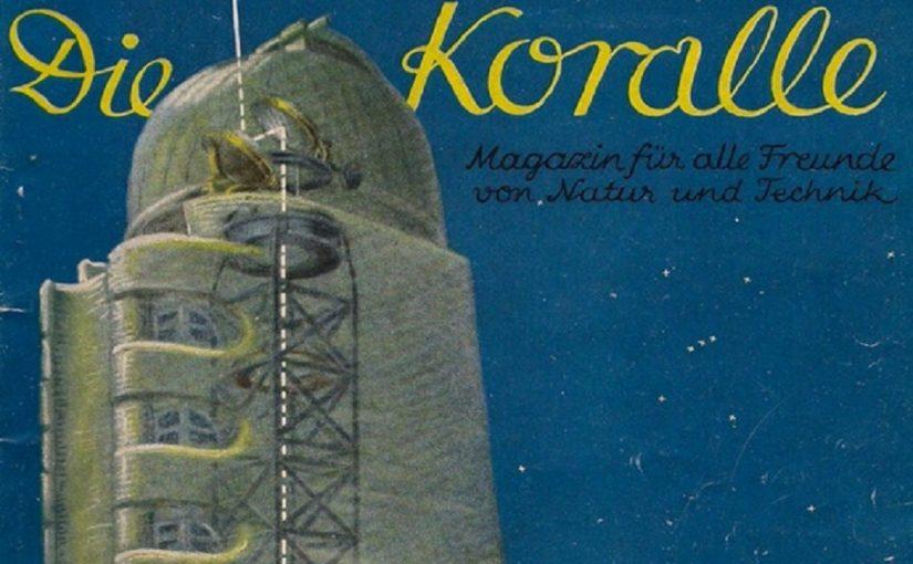 """Potsdamer Einsteinturm auf dem Titelbild von """"Koralle"""" (Bild: historische Abbildung, 1926)"""