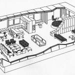 Axonometrie des Prototypen, ursprüngliche Einrichtung (Bild: Mustermappe Kunststoffhaus fg 2000)
