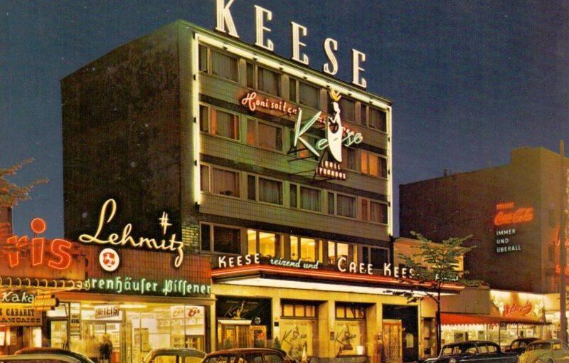 Hamburg, Café Keese (Bild: historische Postkarte)