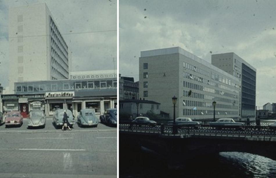Hamburg, Postscheckamt Alter Wall (Bild: Staatsarchiv Hamburg, 720-1_344-31 04512  und 720-1_344-31 04515, CC BY SA 3.0)