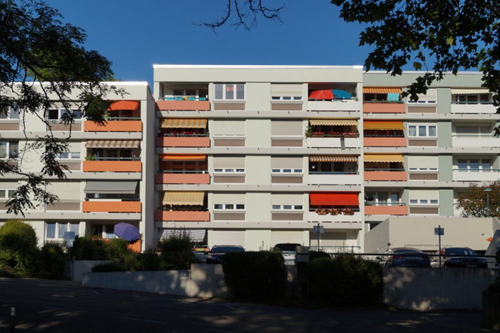 Heidelberg-Boxberg, Am Ebertsrott, Wohnhäuser von Jörg Herkommer (Bild: Maximilian Kraemer, 2020)