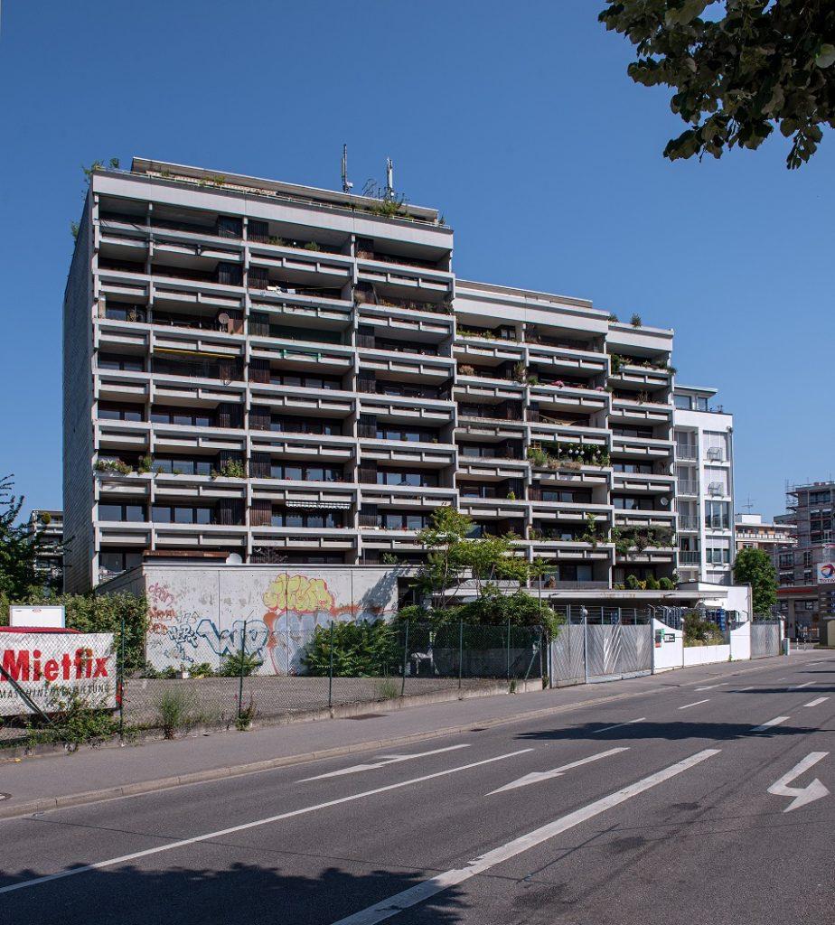 Heidelberg, Kurfürstenanlage 59-61 (Bild: © Steffen Fuchs, Institut für Europäische Kunstgeschichte, Universität Heidelberg, Juni 2020)