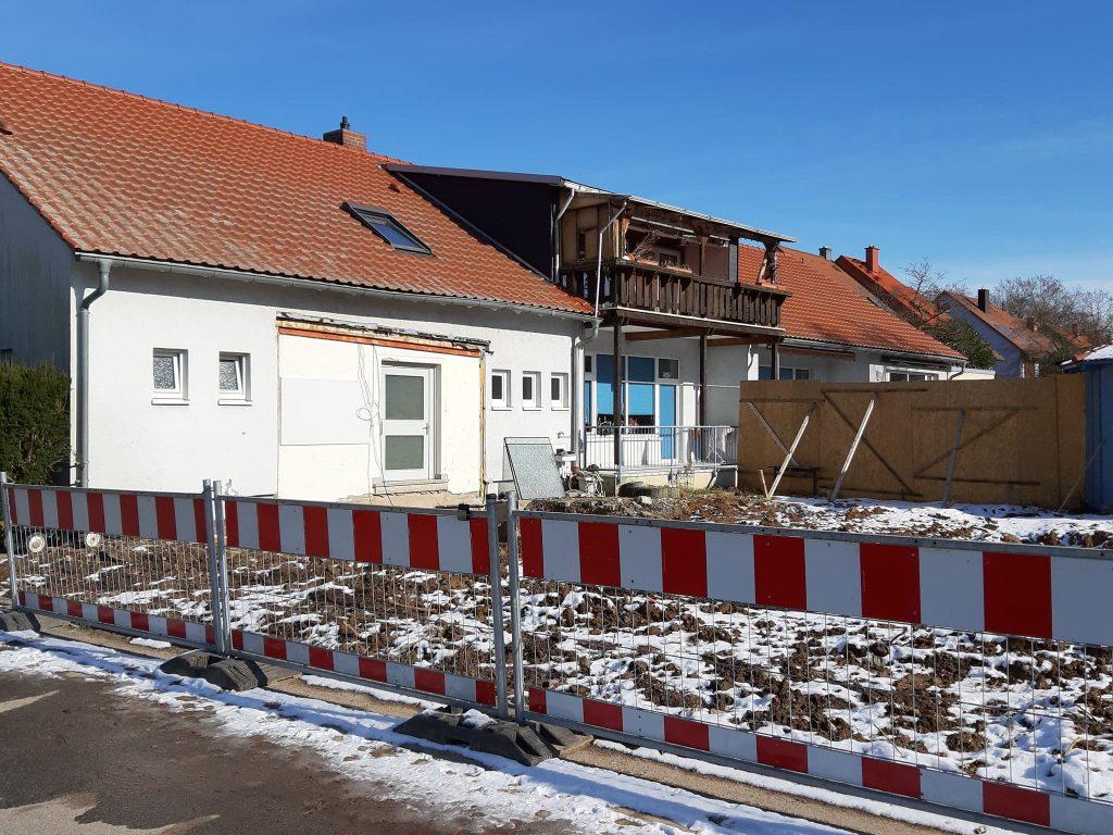 Ladenburg, St. Johannes während des Abrisses (Bild: K. Berkemann, Februar 2021)