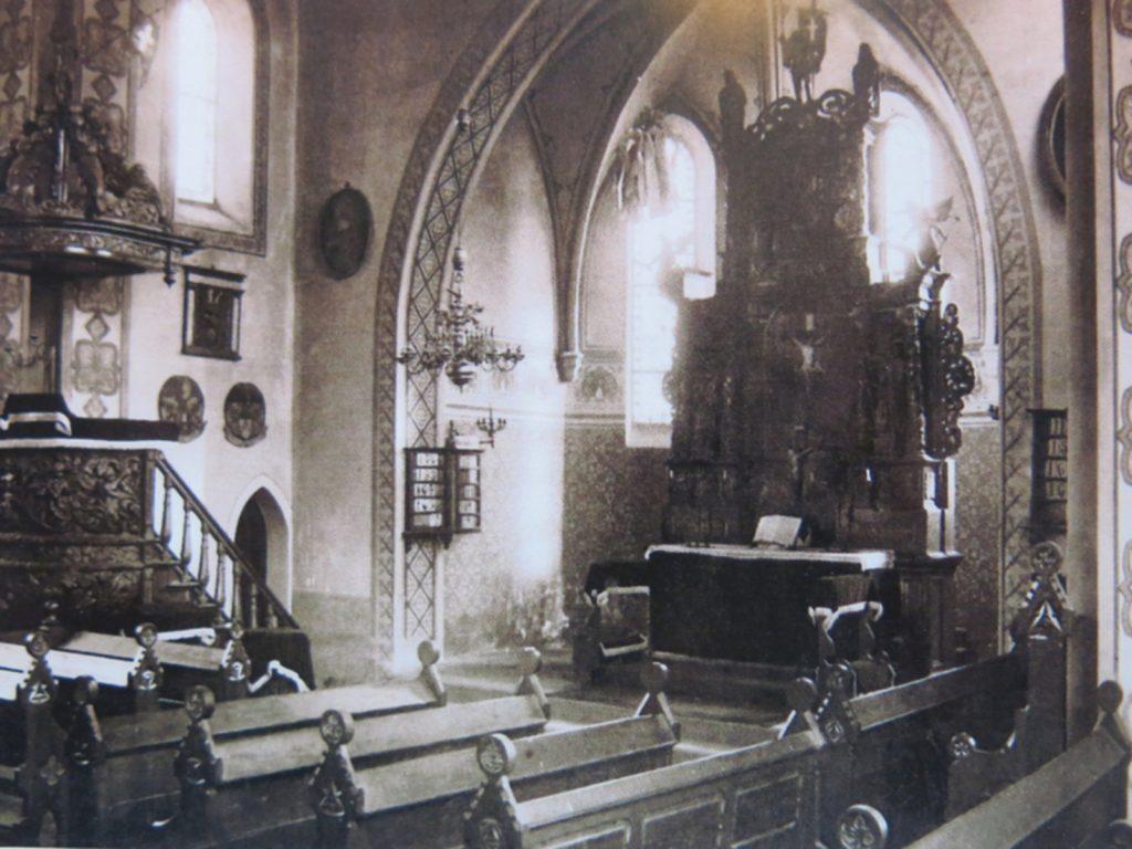 Langenstein, Ev. Kirche (Bild: historische Abbildung, via kirchenkreis-halberstadt.de)
