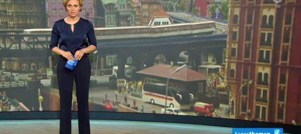 """""""märklinMODERNE"""" in den Tagesthemen (Bild: youtube-Still)"""