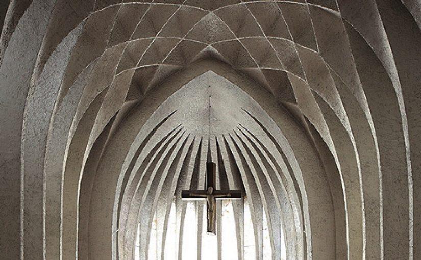 """""""Sakralbauten der Architektenfamilie Böhm"""" (Bild: Schnell und Steiner, Buchcover, Detail)"""