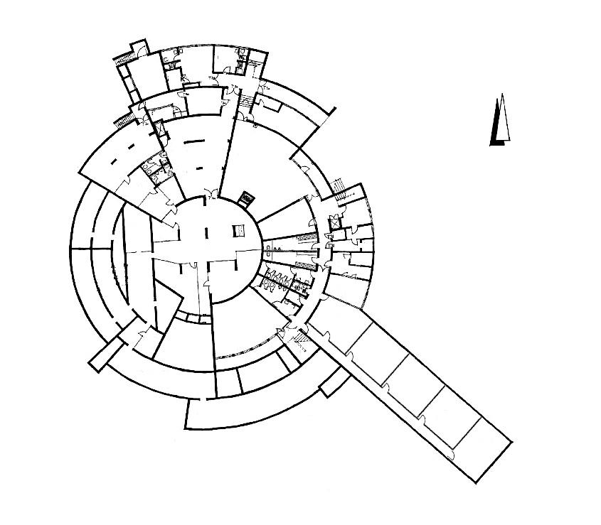 Hattersheim, Stadthalle, Grundriss, Erdgeschoss
