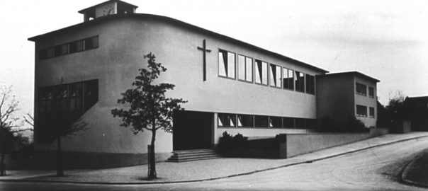 Stuttgart, Brenzkirche, um 1933 (Bild: historische Postkarte)