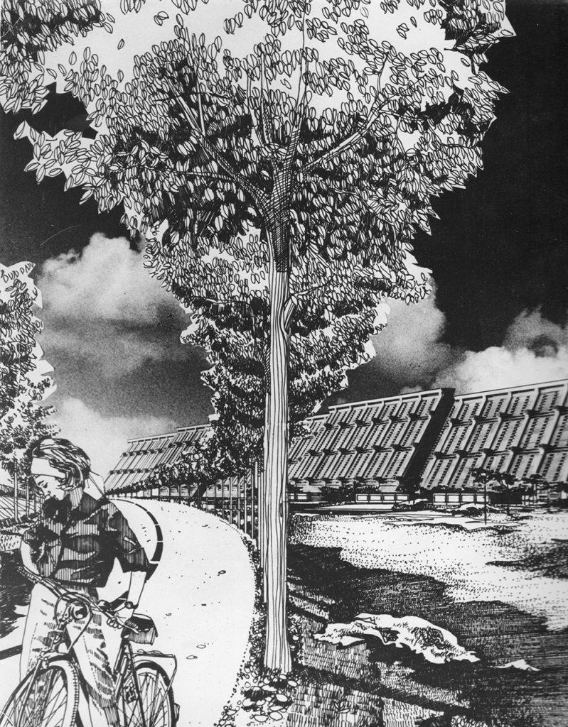 Dieter Urbach: Visualisierung von Josef Kaisers Großhügelhaus, um 1970 (Bild: © mit freundlicher Genehmigung des Josef-Kaiser-Archivs Dresden)