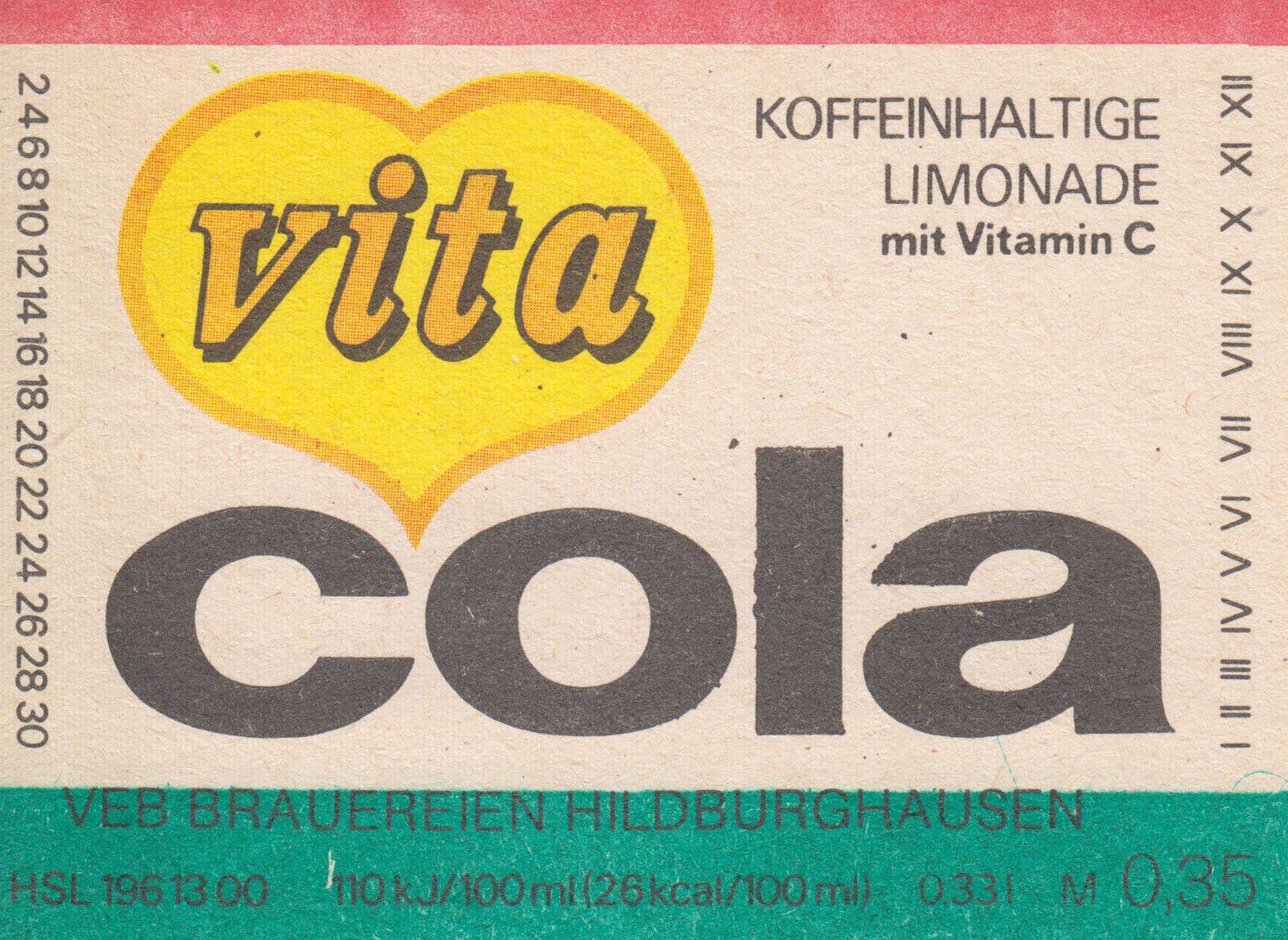 Vita Cola, VEB Brauerei Hildburghausen (Bild: historisches Etikett)