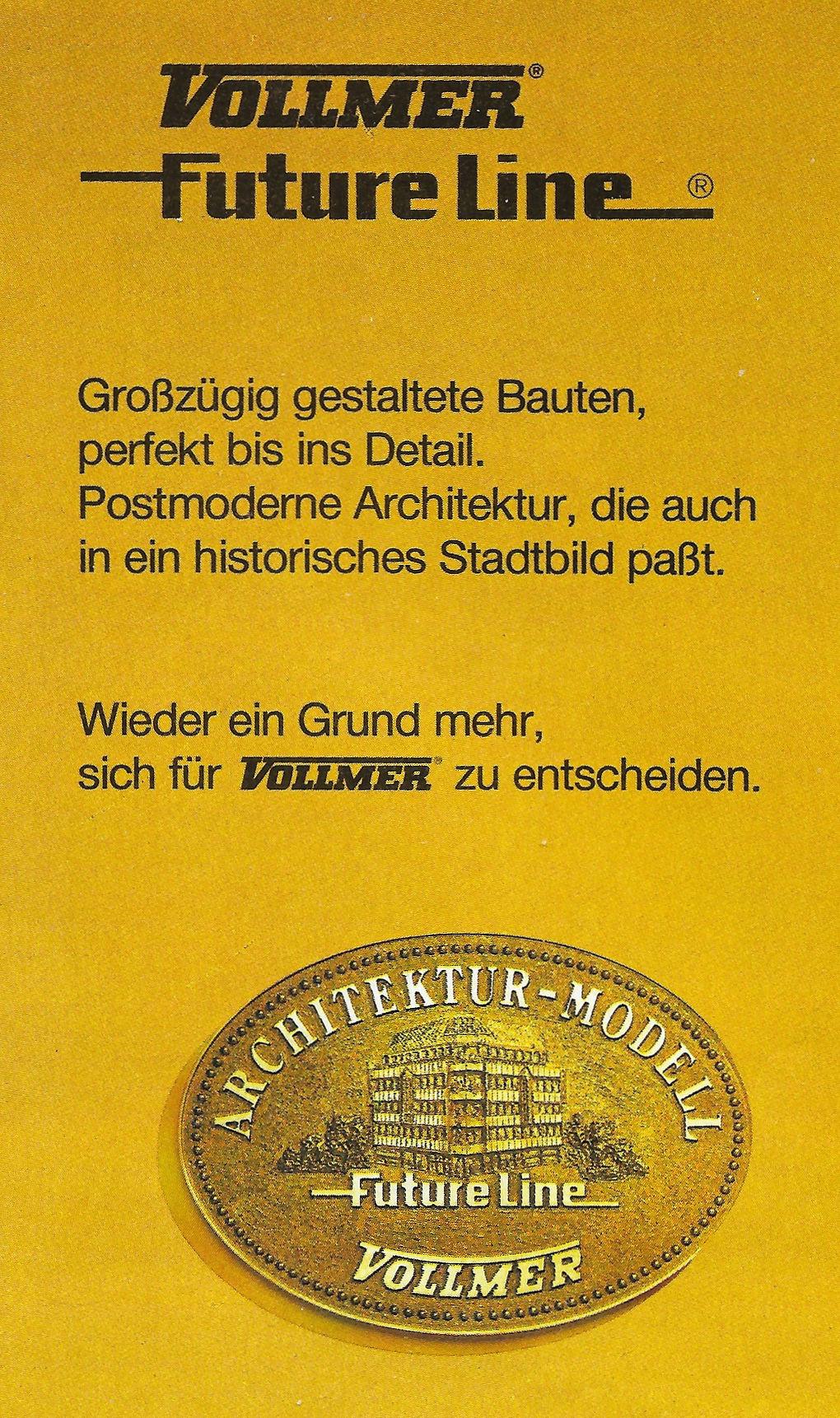 Vollmer-FutureLine (Bild: Vollmer-Katalog 1987, privat)