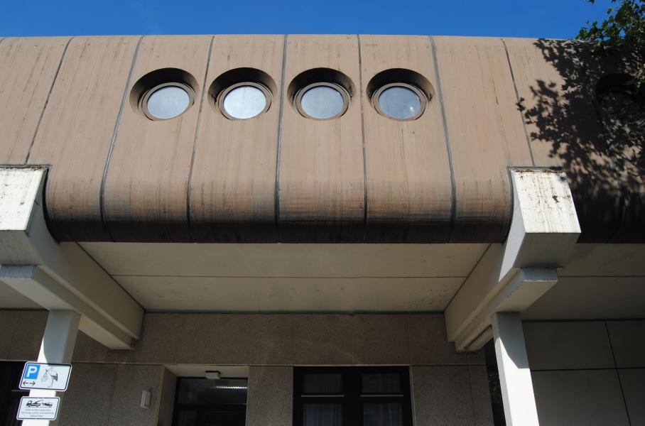 Wiesbaden, Helios-Dr.-Horst-Schmidt-Kliniken (Bild: Institut für Kunstgeschichte, Johannes Gutenberg-Universität Mainz, via SOSBrutalism)