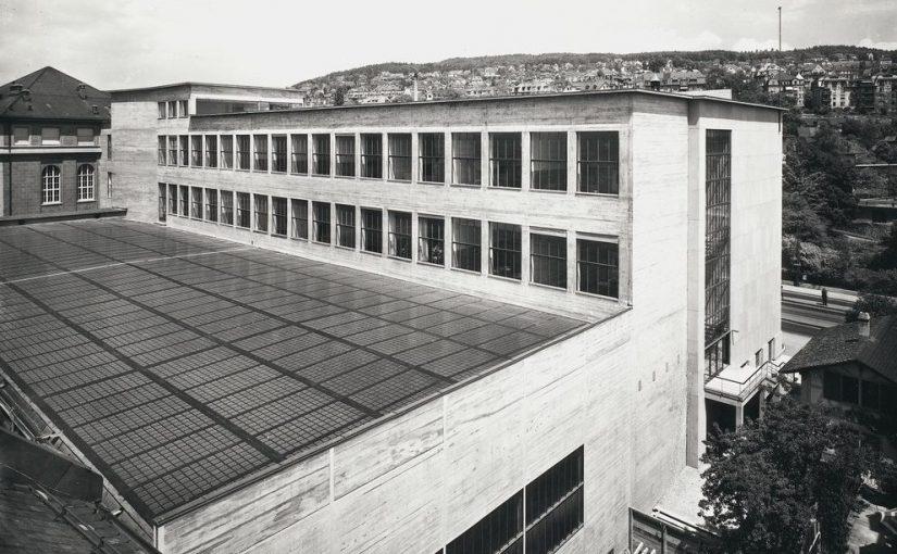 Zürich, Maschinenlaboratorium der ETH, um 1934 (Bild: ETH Bibliothek, Zürich, PD)